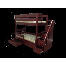 Кровать 2х ярусная Икея с приставной лестницей